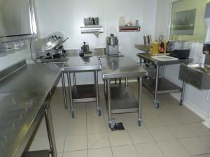 Salle de préparation des entrées et des desserts